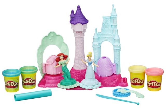 Play Doh Castelo Mágico Princesas Ariel e Cinderela - Hasbro  - Doce Diversão