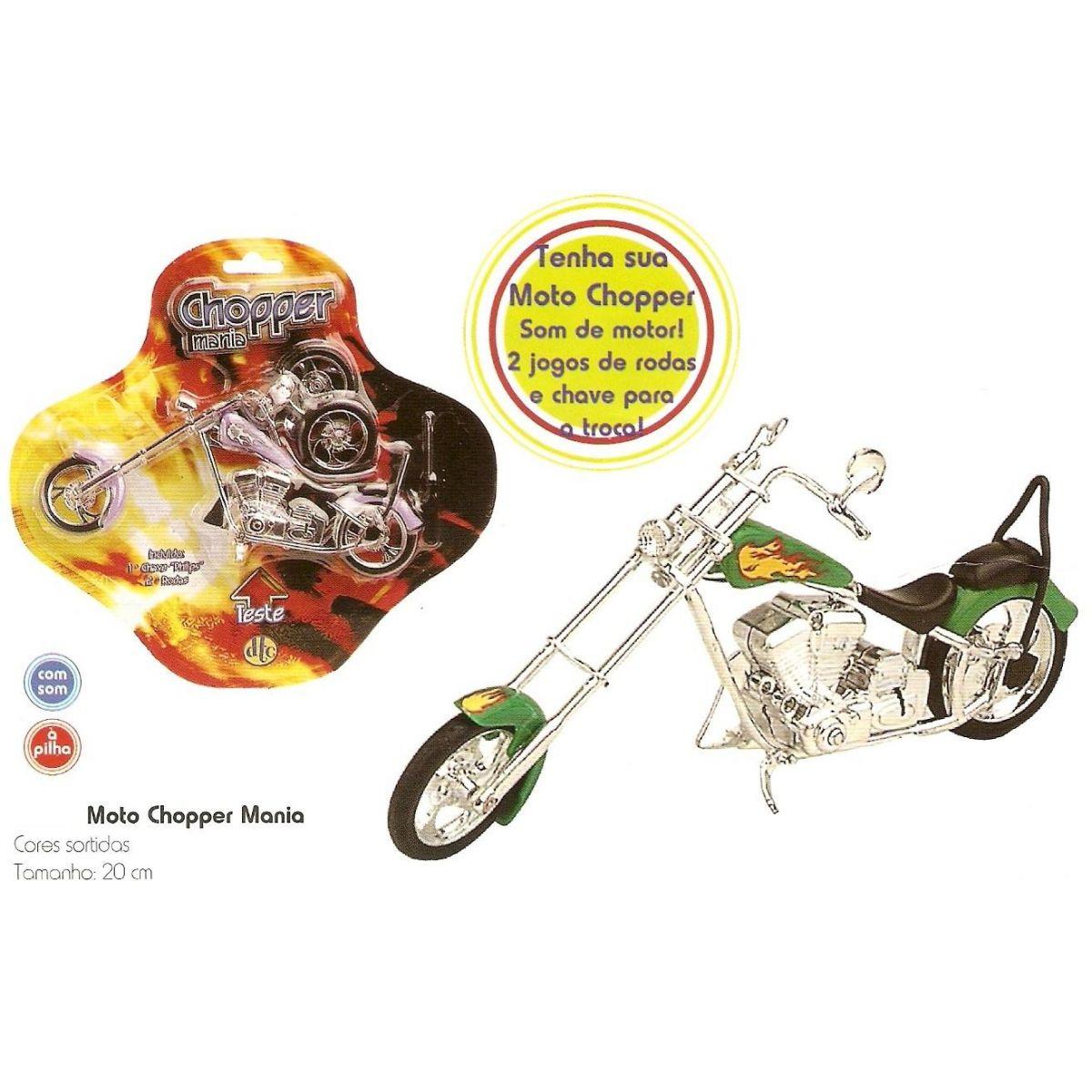 Moto Chopper Mania - Cartela  - Doce Diversão