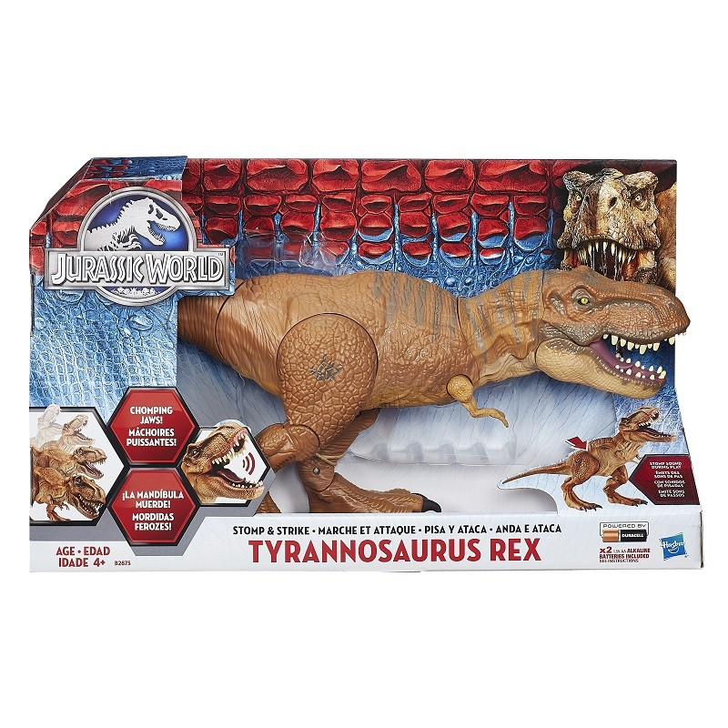 Jurassic World  T – Rex figura eletrônica Hero Luxo - Hasbro  - Doce Diversão