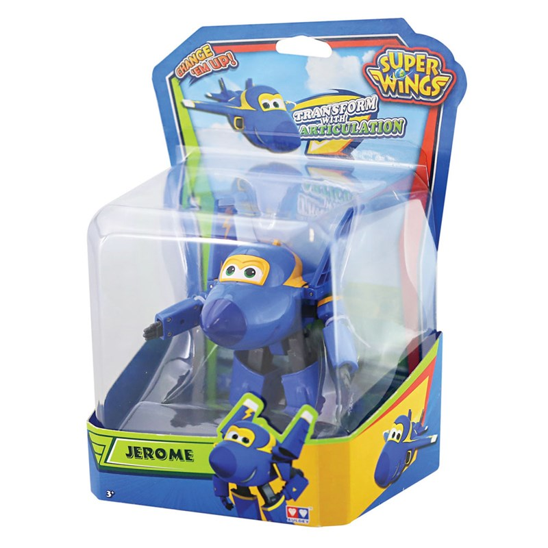 AVIÃO TRANSFORME SUPER WINGS - CHANGE UP- JEROME - INTEK  - Doce Diversão
