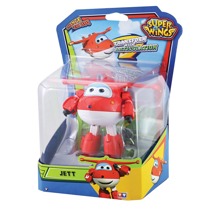 AVIÃO TRANSFORME SUPER WINGS - CHANGE UP- JETT - INTEK  - Doce Diversão