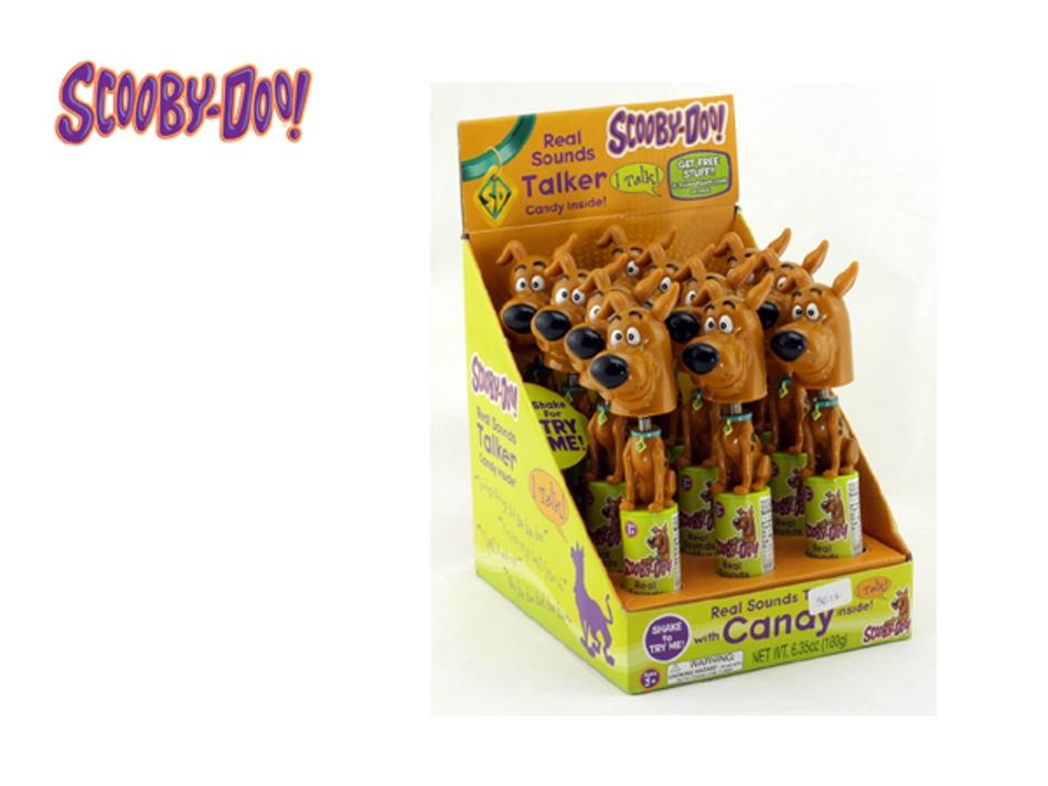Tubo Fala Aí Scooby Doo - Balança a cabeça e Fala c/12  - Doce Diversão