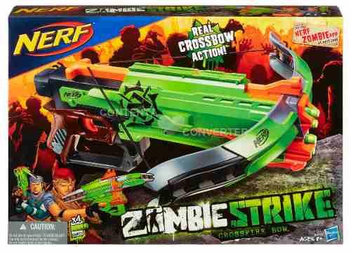 Nerf Strike Zombie Lançador Crossbow - Arco - Hasbro  - Doce Diversão