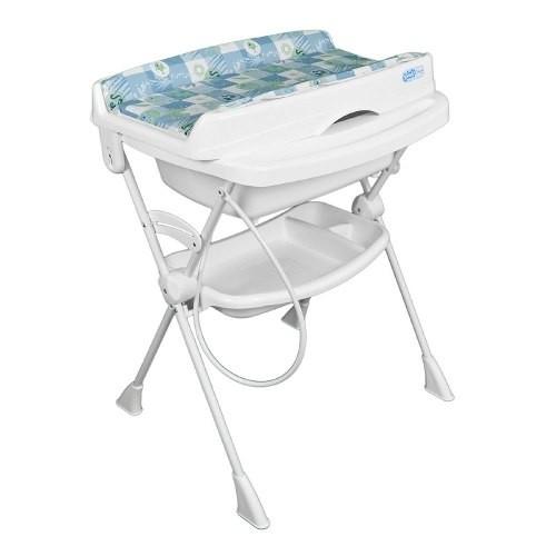 Banheira P/Banho Bebê C/ trocador Burigotto Splash Peixinhos Azul   - Doce Diversão