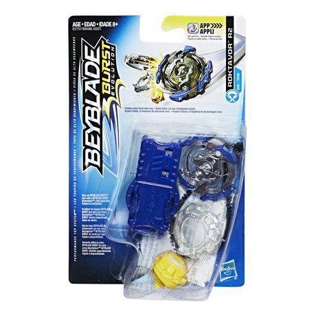 Bey Blade Burst  Evolution Pião Com Lançador Ataque Roktavor R2  - Hasbro  - Doce Diversão