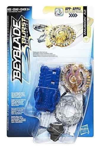 Bey Blade Burst Pião Com Lançador Ataque Anubion A2 - Hasbro  - Doce Diversão