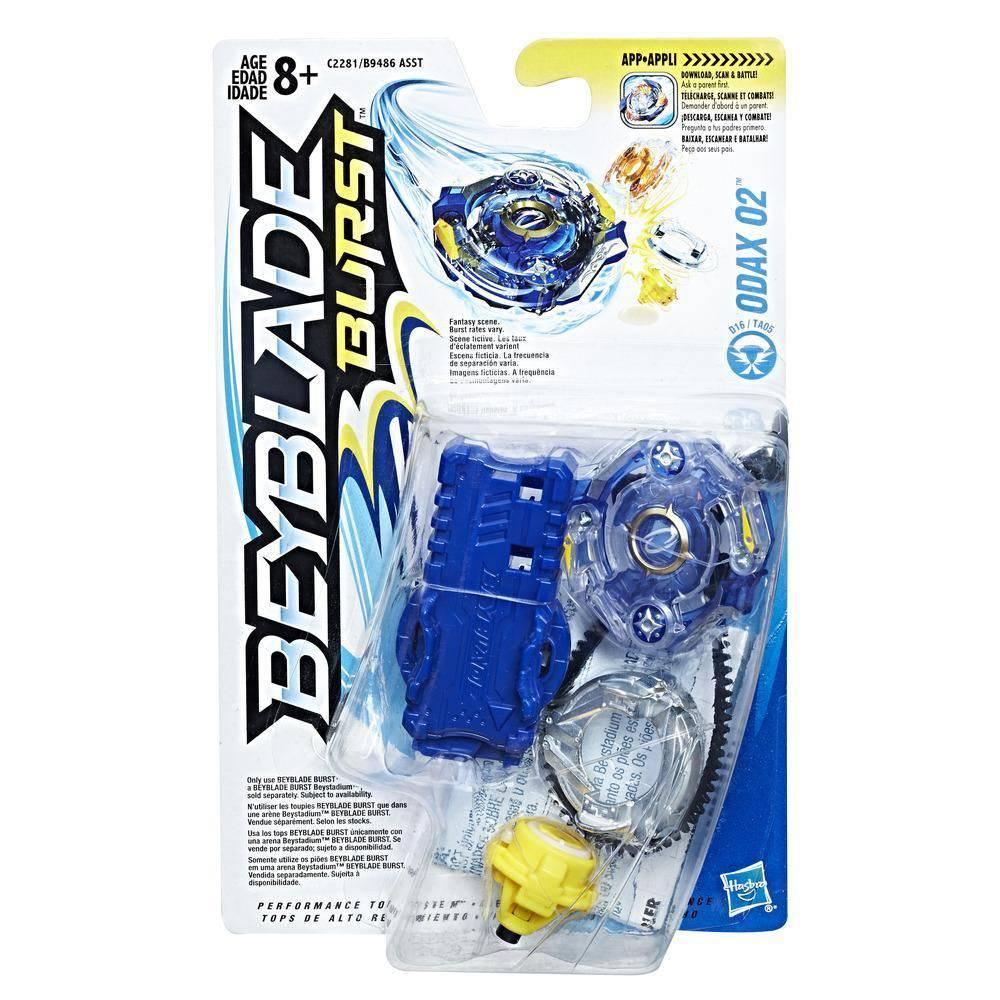 Bey Blade Burst Pião Com Lançador Ataque Odax O2 - Hasbro  - Doce Diversão