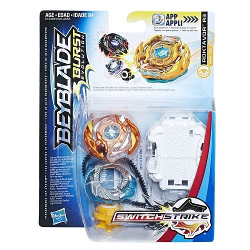 Bey Blade Burst Switchstrike Roktavor R3 – Solta Faísca  Hasbro  - Doce Diversão