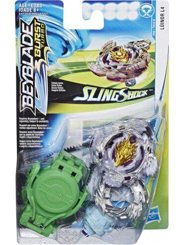 Bey Blade Burst Turbo Sling Shock – 2 modos batalha - Lúinor L4 Hasbro  - Doce Diversão