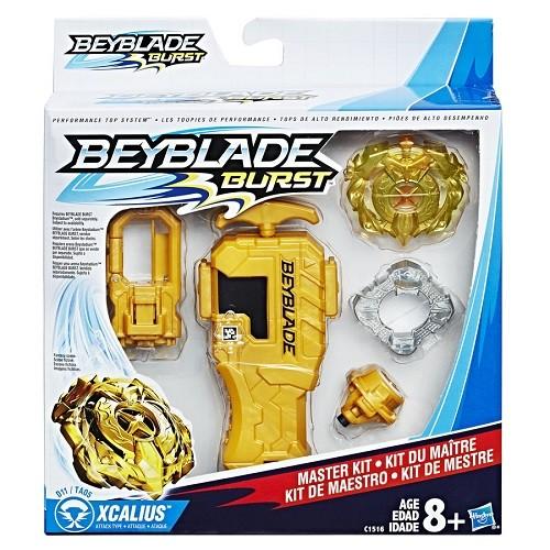 Bey Blade Com Pião Lançador Kit de Mestre Xcalius - Hasbro  - Doce Diversão