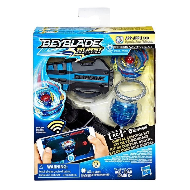 Bey Blade Burst Controle Absoluto Valtryek – Kit  Controle Digital Bluetooth C/APP  Hasbro  - Doce Diversão