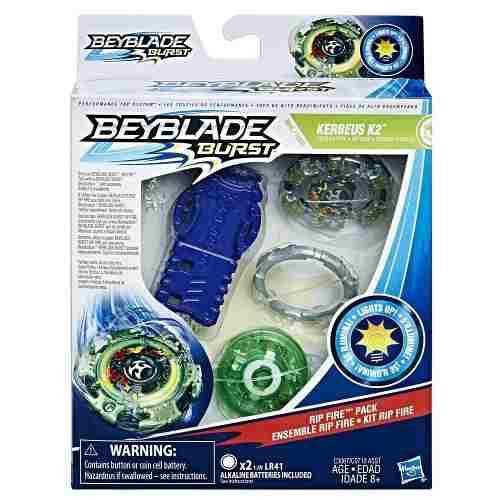 Bey Blade Fogo Pião Com luzes  -Kerbeus K2 - Hasbro  - Doce Diversão