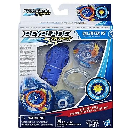 Bey Blade Fogo Pião Com luzes  -Valtryek V2 - Hasbro  - Doce Diversão