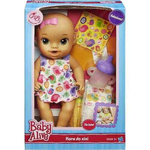 Boneca Baby Alive Hora Do Xixi Morena  - Hasbro  - Doce Diversão