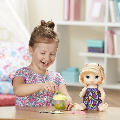 Boneca Baby Alive Papinha Divertida Loira - Hasbro   - Doce Diversão