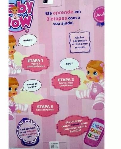Boneca Baby Wow Analu Fala Interativa – 150 frases e palavras -Multikids  - Doce Diversão