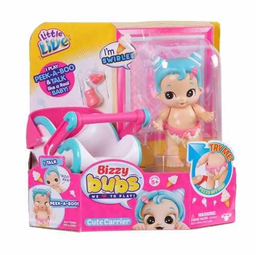 Boneca Bizzy Bubs Cesta Doçurinha – brinca e Fala – DTC  - Doce Diversão