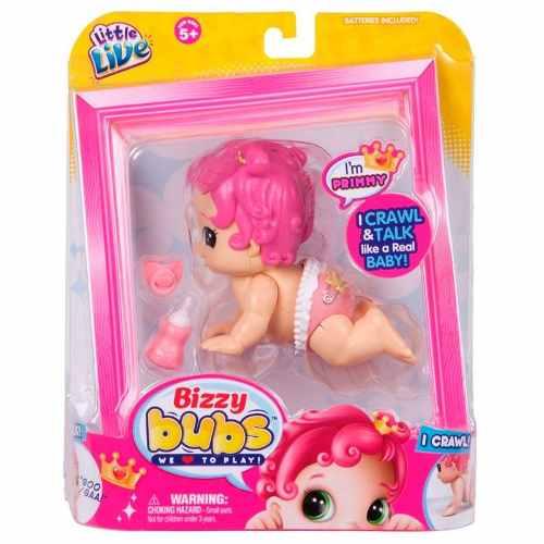 Boneca Bizzy Bubs Princesinha – Engatinha e Fala – DTC  - Doce Diversão