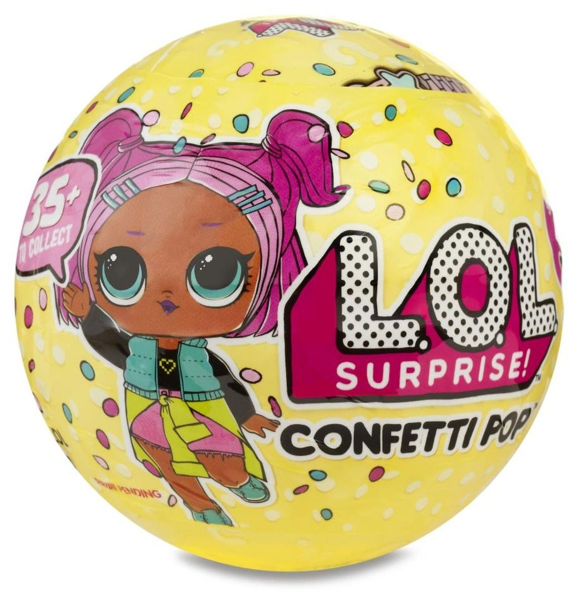 Boneca L.O.L  LoL Confetti Pop Surprise Serie 3 – 9 surpresas  Candide  - Doce Diversão
