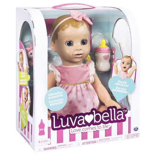 Boneca - Luvabella -  Interativa Com Expressões Fala Portugues - Sunny  - Doce Diversão