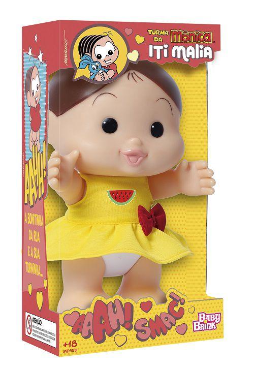 Boneca Turma da Mônica Iti Malia – Magali 23 cm – Baby Brink  - Doce Diversão