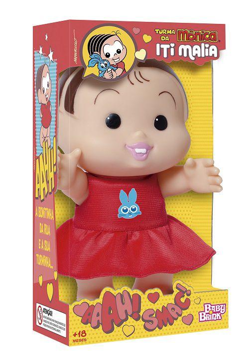 Boneca Turma da Mônica Iti Malia – Mônica 23 cm – Baby Brink  - Doce Diversão