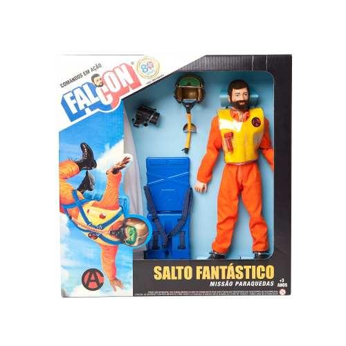 Boneco 30 cm Falcon Salto Fantástico Com Paraquedas - Estrela.  - Doce Diversão