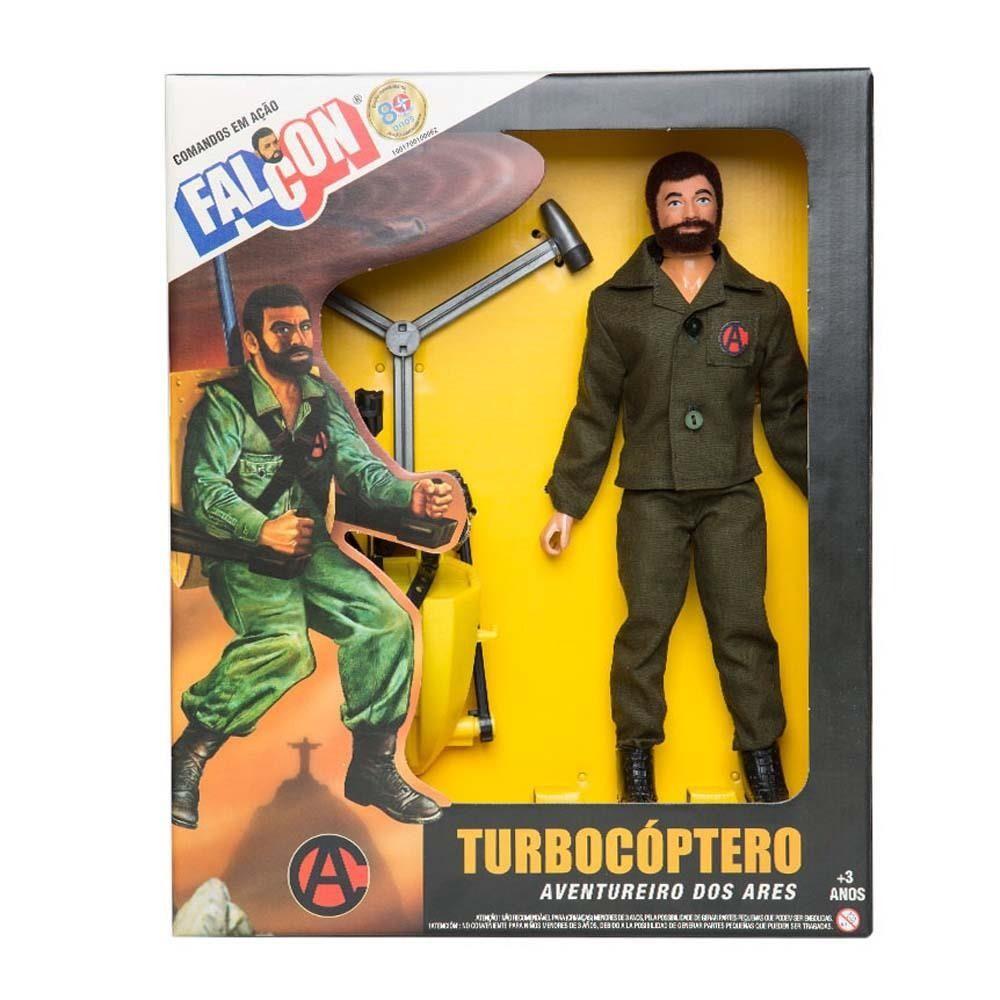 Boneco 30 cm Falcon Turbocóptero- Estrela.  - Doce Diversão