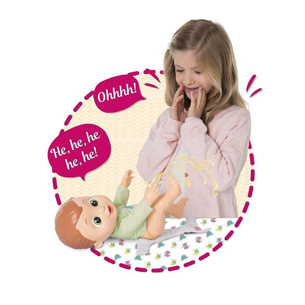 Boneco Baby Wee Alex - 30 cm Com Som e Faz Xixi - Brinquedos Chocolate  - Doce Diversão