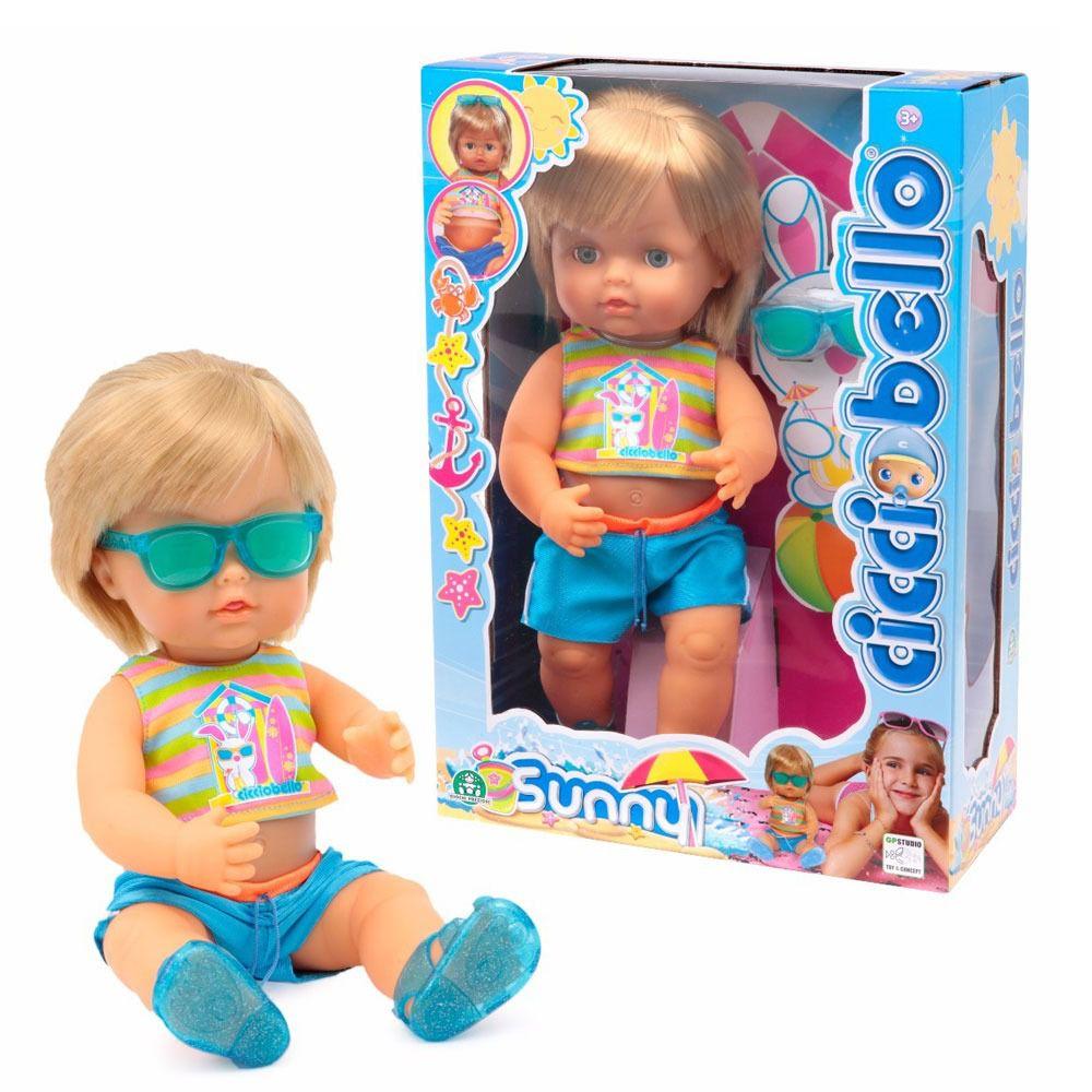 Boneco Bebê - Cicciobello Sunny Bronzeado 30 cm - Dtc   - Doce Diversão