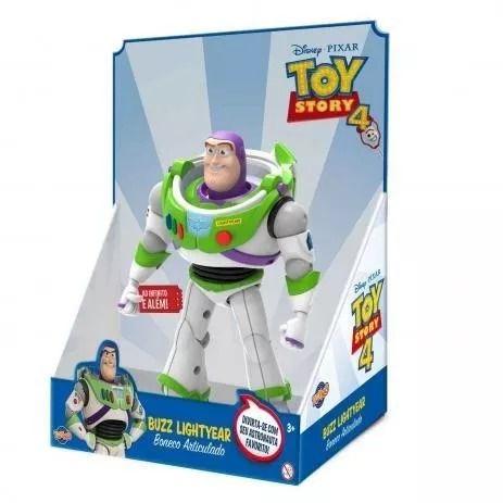 Boneco Buzz Lightyear Toy Story 4 - 25 Cm Articulado   -Toyng  - Doce Diversão