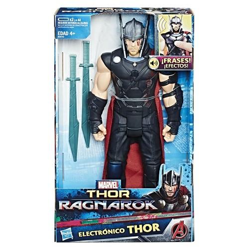 Boneco Eletronico Thor Ragnarok 30 cm  Fala Portugues - Hasbro  - Doce Diversão
