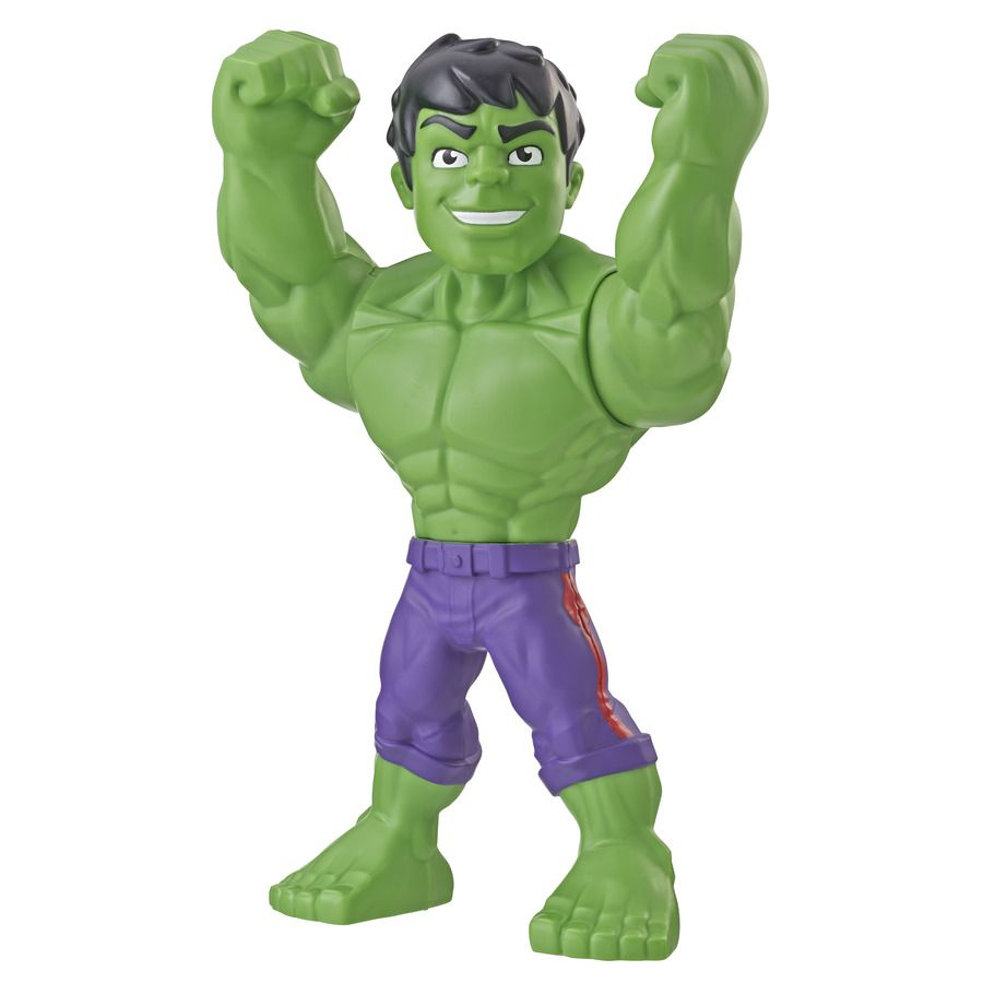 Boneco Playskool Hero Mega Mighty  Articulado 25 cm Hulk - Hasbro  - Doce Diversão