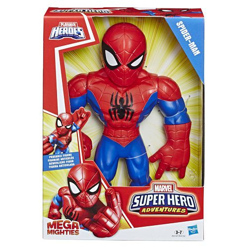 Boneco Playskool Hero Mega Mighty Articulado 25 cm Spiderman - Hasbro  - Doce Diversão