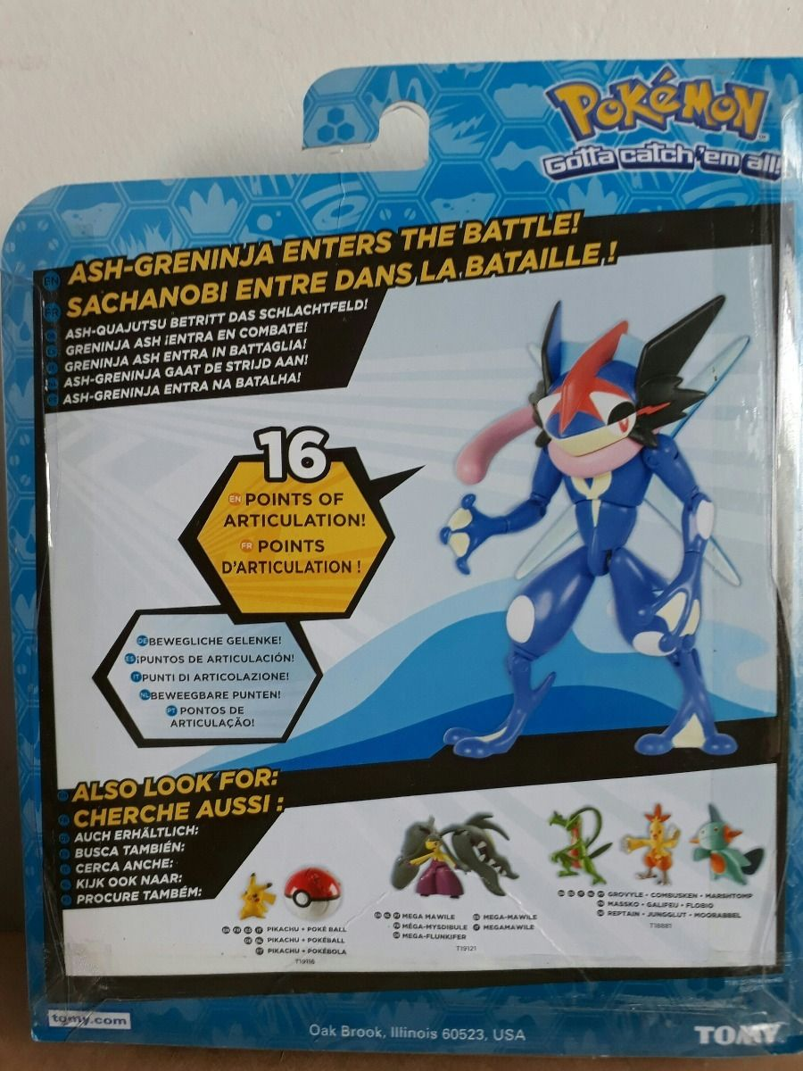 Boneco Pokémon Ash Greninja Figura Ação 13 cm Articulado Tomy  - Doce Diversão
