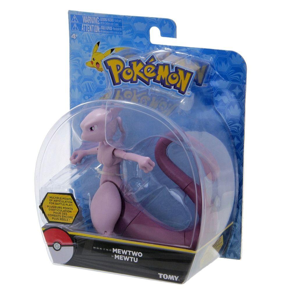 Boneco Pokémon Mewtwo Figura Ação 13 cm Articulado Tomy  - Doce Diversão