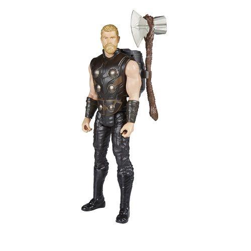 Boneco Thor Vingadores Power FX Eletronico Portugues 30cm - Hasbro  - Doce Diversão
