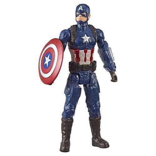 Boneco Titan FX Vingadores Avengers Ultimato – Capitão América 30 cm Articulado - Hasbro  - Doce Diversão