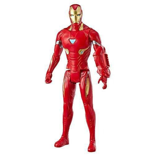 Boneco Titan FX Vingadores Avengers Ultimato – Homem de Ferro 30 cm Articulado - Hasbro  - Doce Diversão