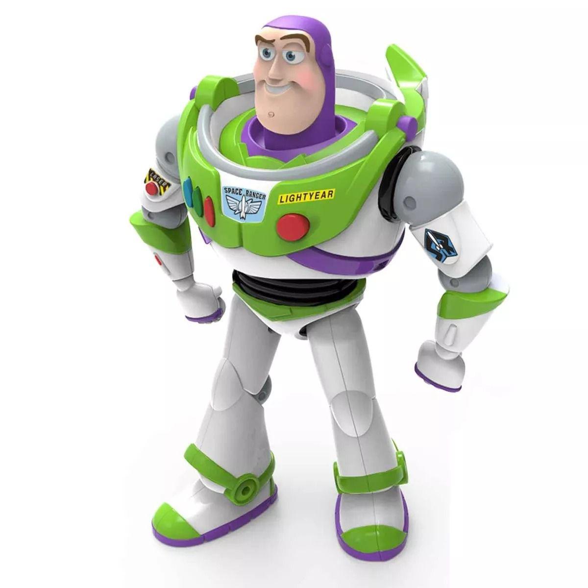 Boneco Buzz Lightyear Toy Story 4 - 25 Cm Articulado E Com Som Português -Toyng  - Doce Diversão