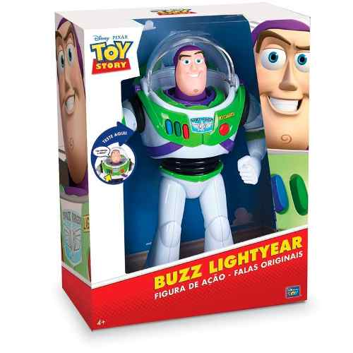 Boneco Toy Story Buzz Lightyear C/ 20 Frases Portugues 30 cm Toyng  - Doce Diversão