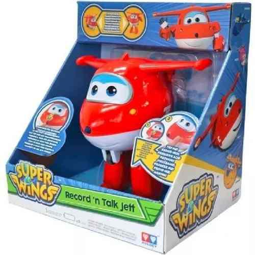 Boneco Transformer Super Wings Jett Grava e Fala - Fun   - Doce Diversão