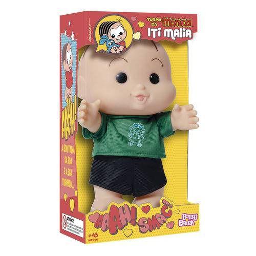 Boneco Turma da Mônica Iti Malia – Cebolinha 23 cm – Baby Brink  - Doce Diversão
