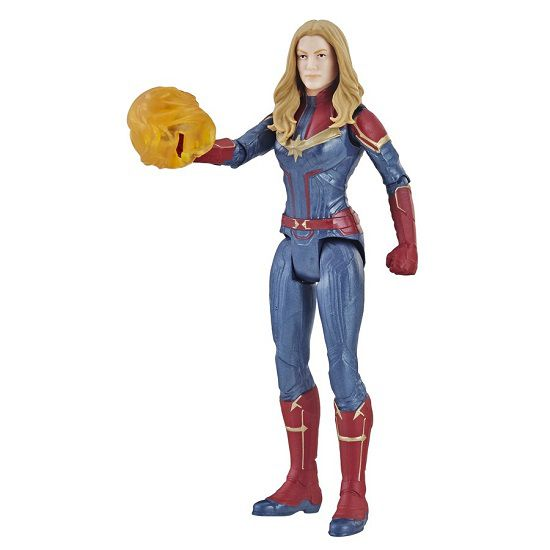 Boneco Vingadores Ultimato Deluxe Capitã Marvel 15 cm Articulado Hasbro  - Doce Diversão