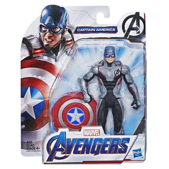 Boneco Vingadores Ultimato Deluxe Capitão América 15 cm Articulado Hasbro  - Doce Diversão
