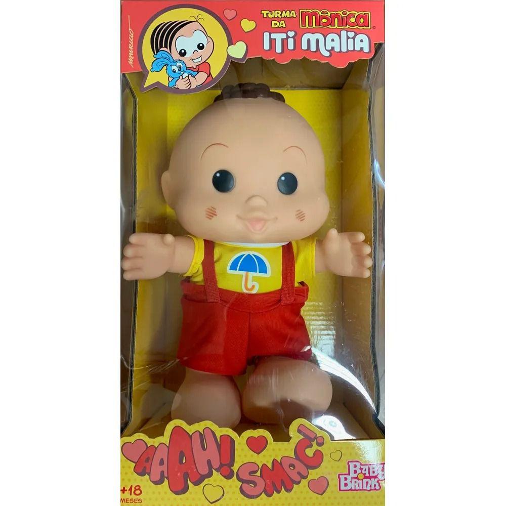 Bonecos Turma da Mônica Iti Malia – Cebolinha e Cascão 23 cm – Baby Brink  - Doce Diversão