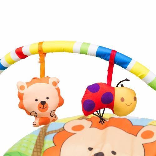Cadeira Repouso Musical Vibratória C/ Móbile Poly Leão Baby Style  - Doce Diversão