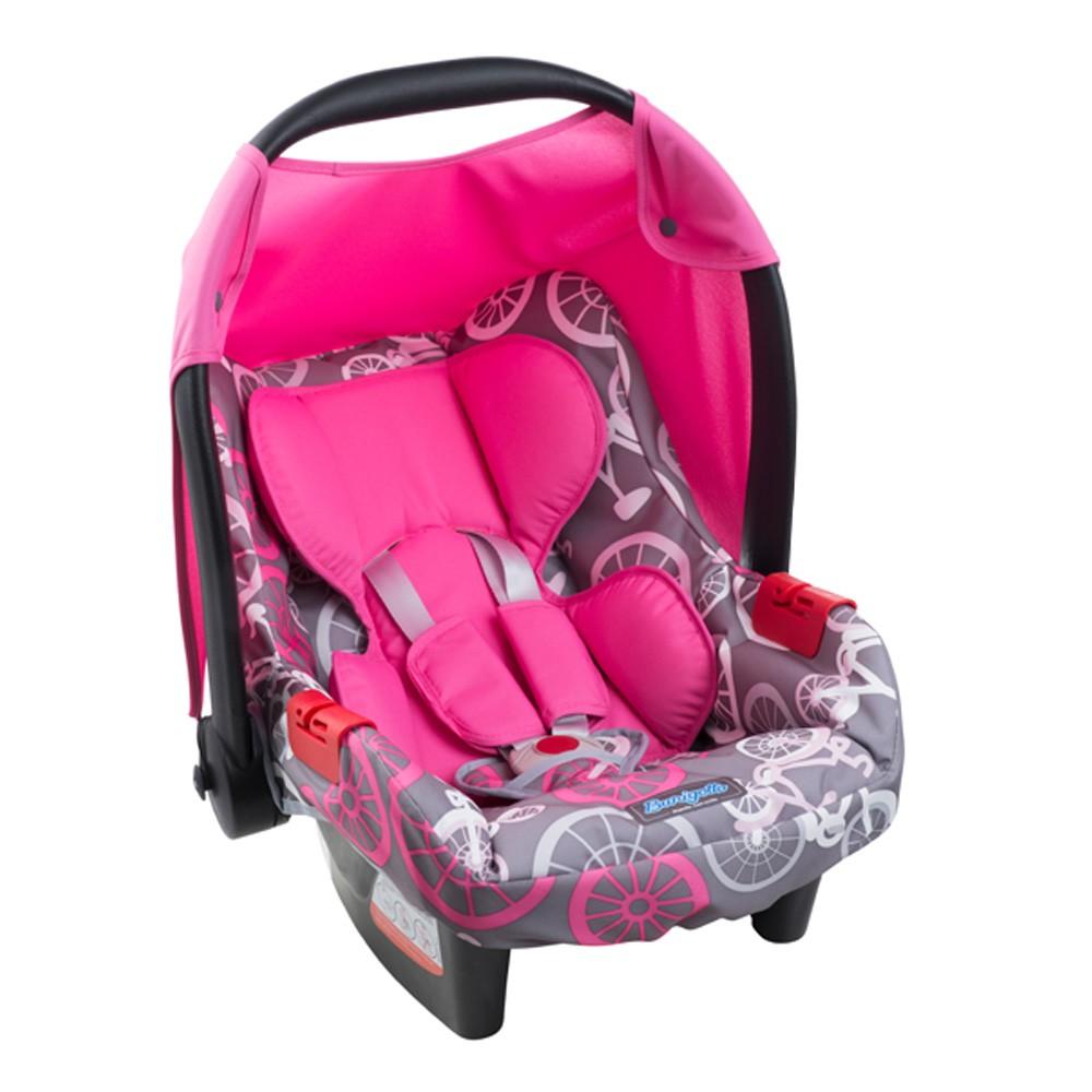 Carrinho + Bebê Conforto Travel System Reverse Burigotto AT6 k Rosa  - Doce Diversão