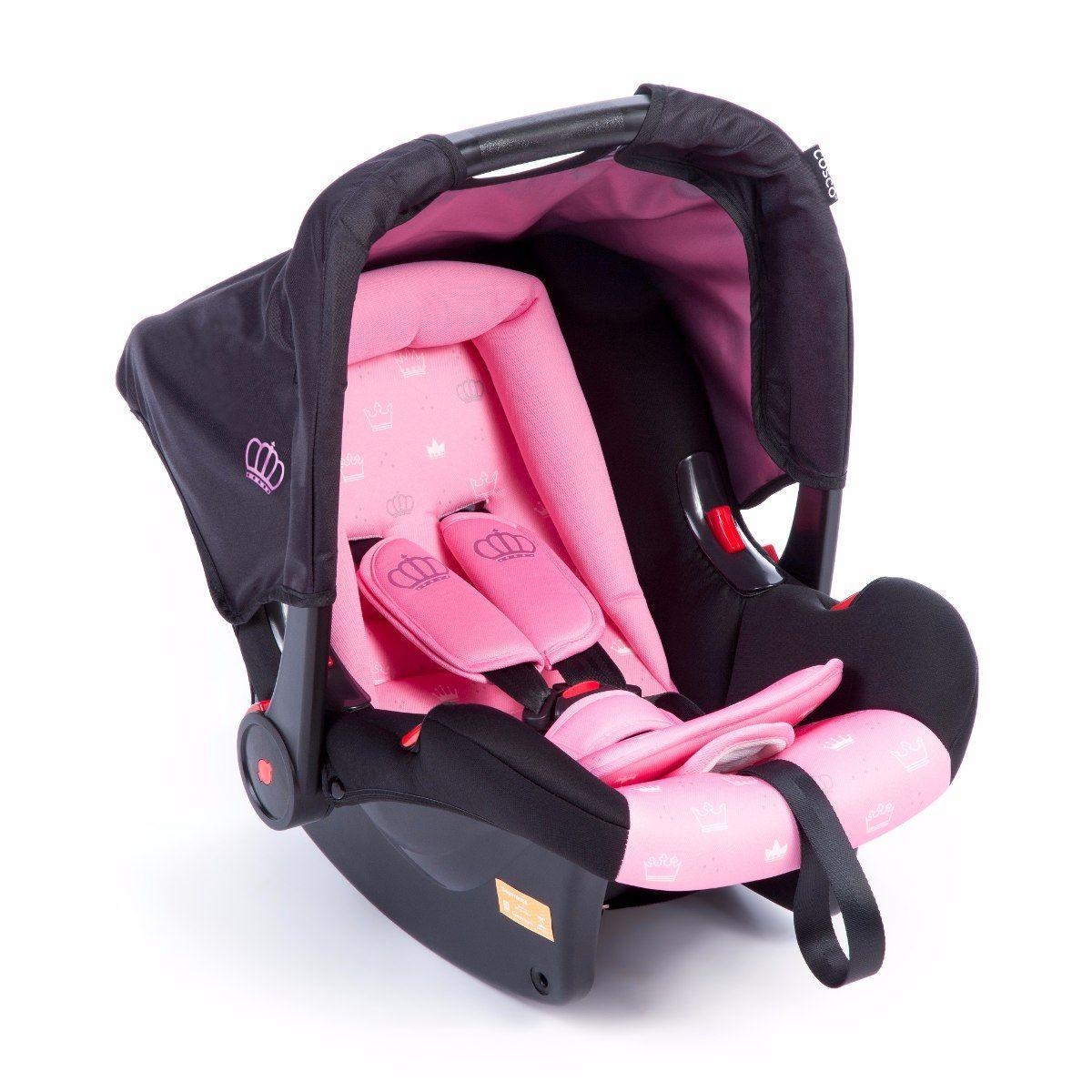 Carrinho Berço Travel System Cosco Nexus Ts + bebe Conforto Rosa  - Doce Diversão