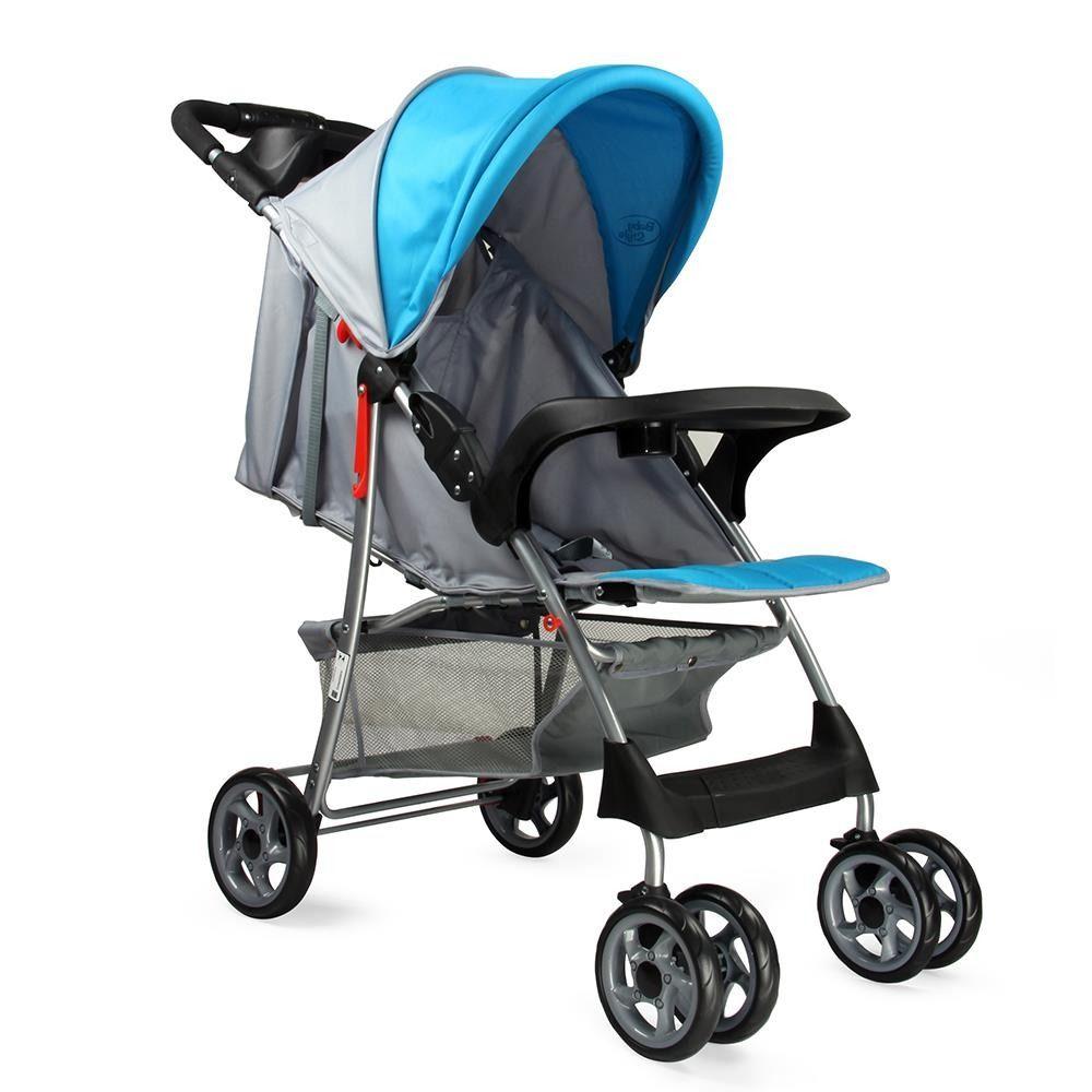 Carrinho de Bebê Passeio Reclinavel Esmeralda Azul ate 15kg Baby Style  - Doce Diversão